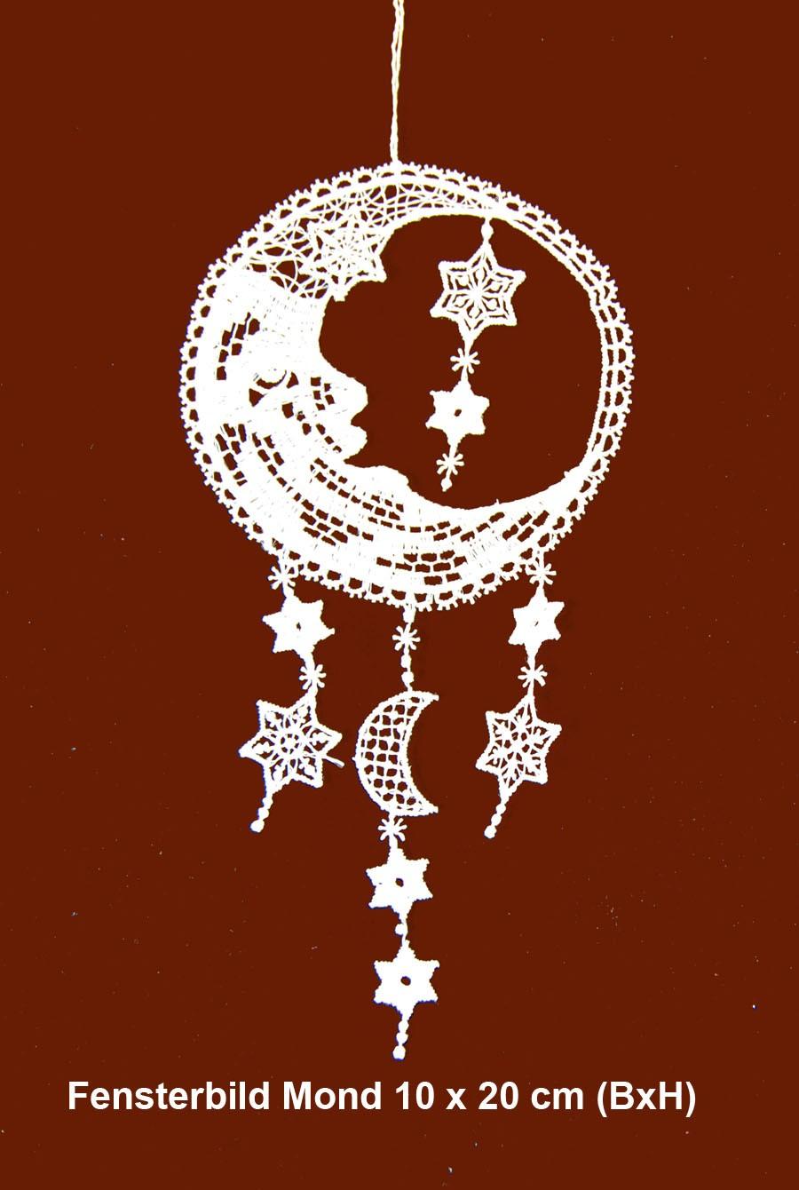 Fensterbild Mond  ca. 10 x 20 cm (BxH)