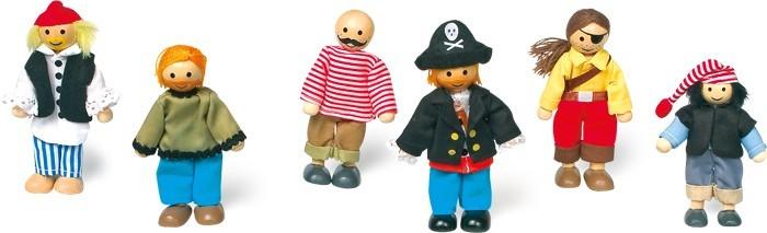Biegepüppchen Piraten, 6er-Set