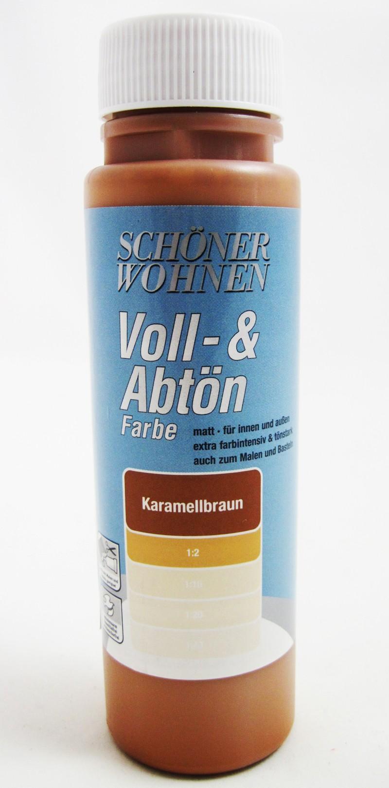 Voll- und Abtönfarbe Karamellbraun 500 ml