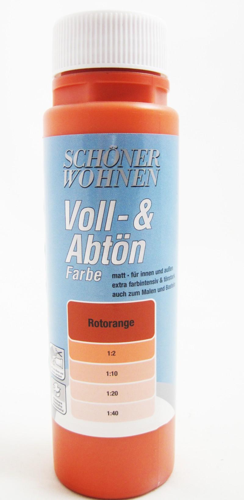 Voll- und Abtönfarbe Rotorange 500 ml