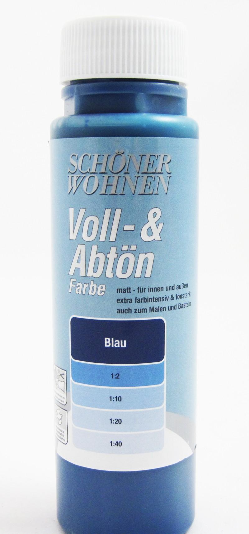 Voll- und Abtönfarbe Blau 500 ml
