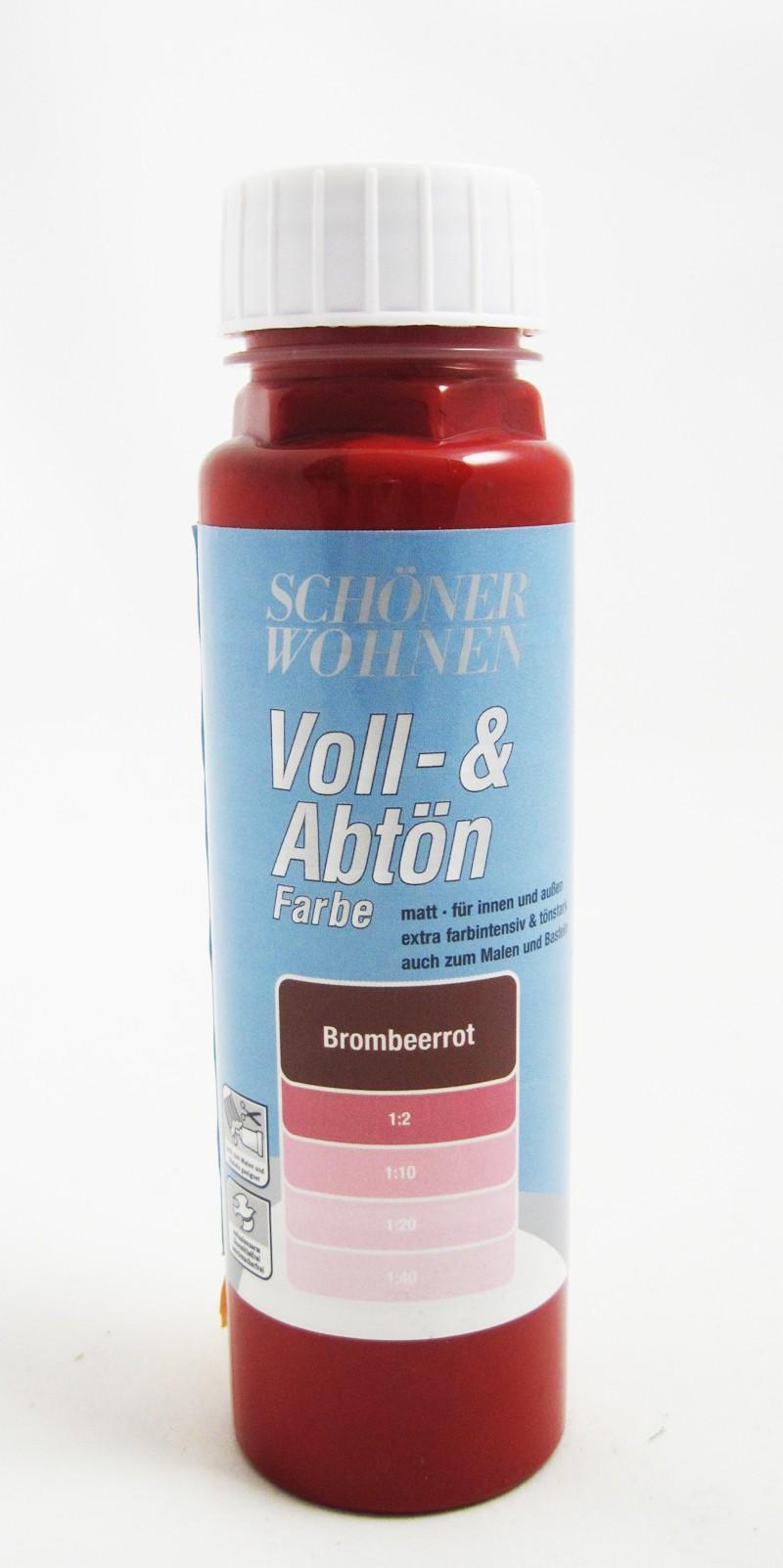 Voll- und Abtönfarbe Brombeerrot 500 ml