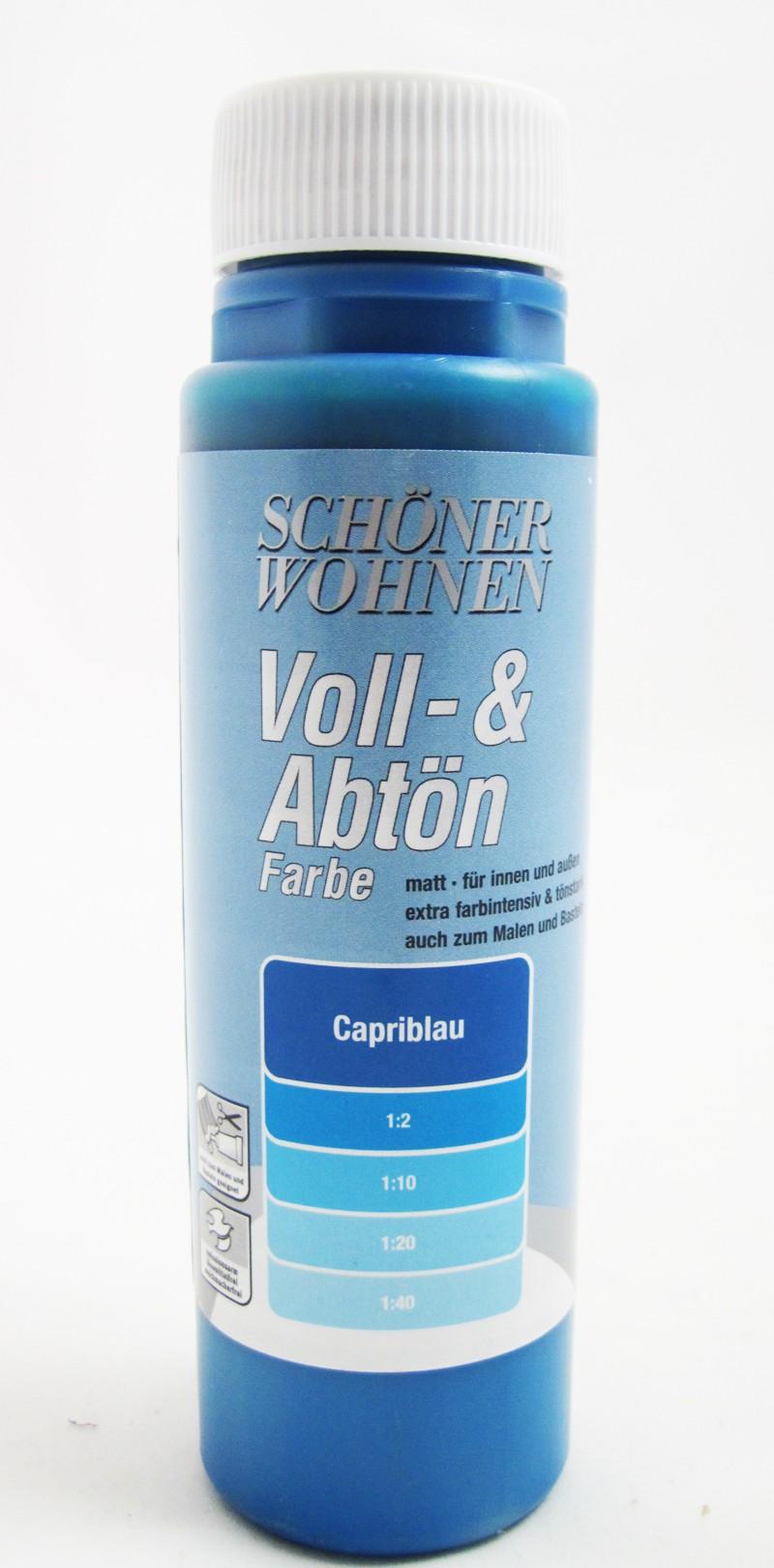 Voll- und Abtönfarbe Capriblau 250 ml