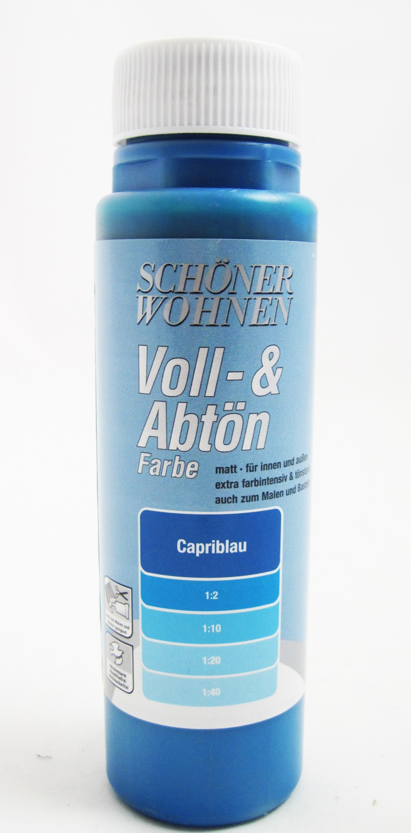 Voll- und Abtönfarbe Capriblau 500 ml