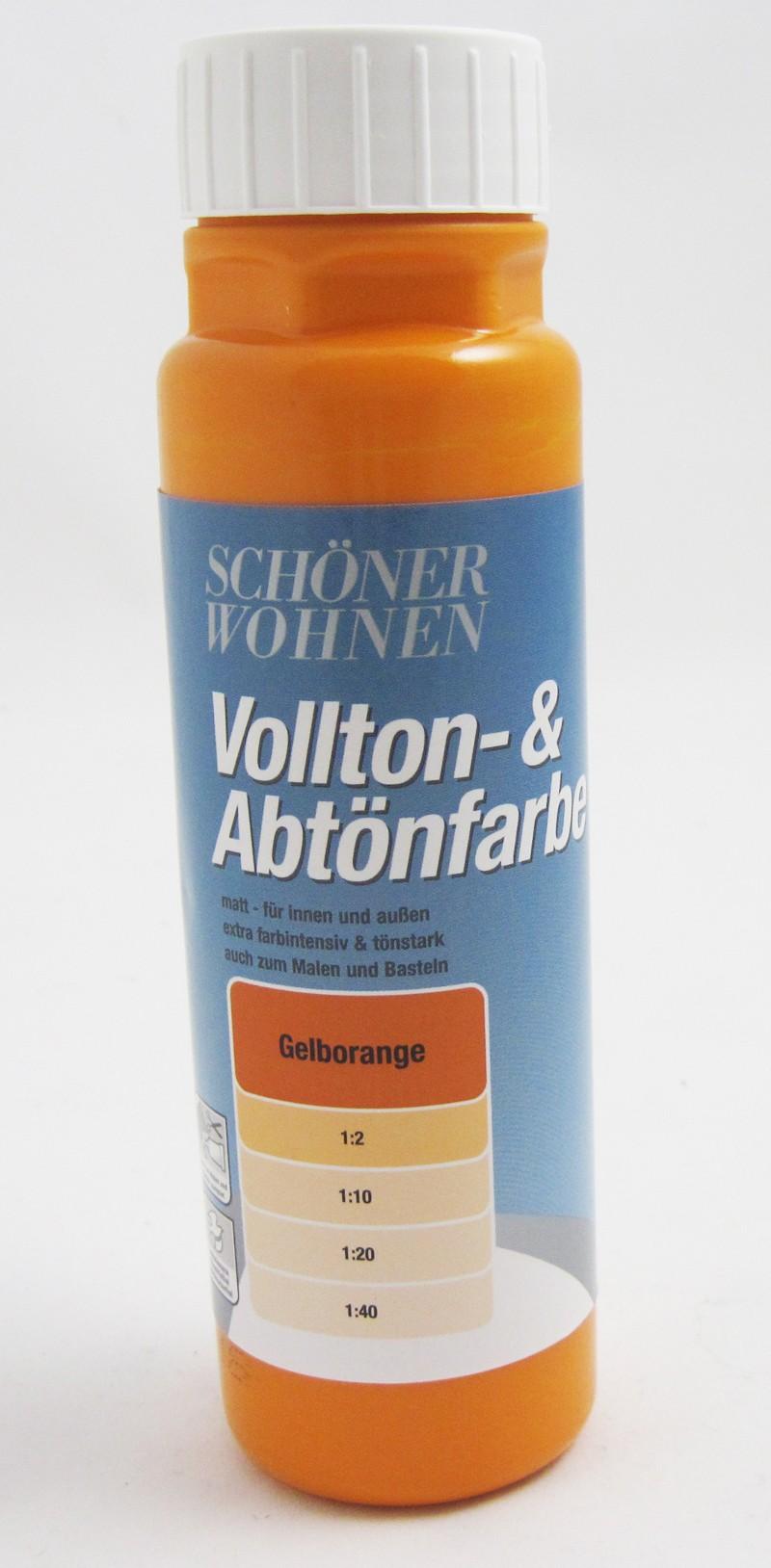 Voll- und Abtönfarbe Gelborange 125 ml