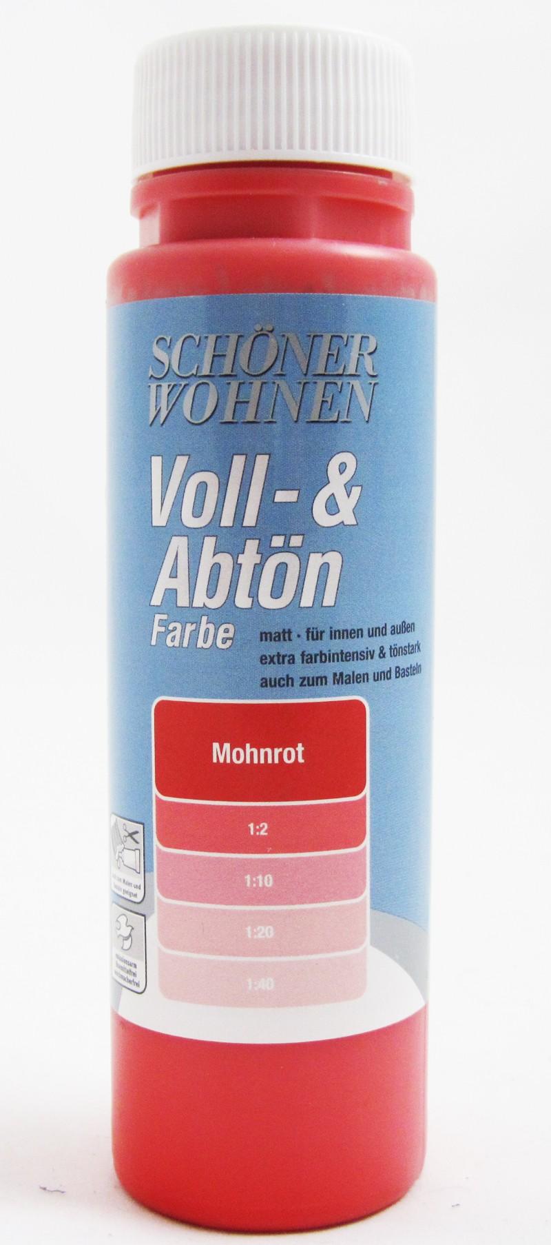 Voll- und Abtönfarbe Mohnrot 500 ml