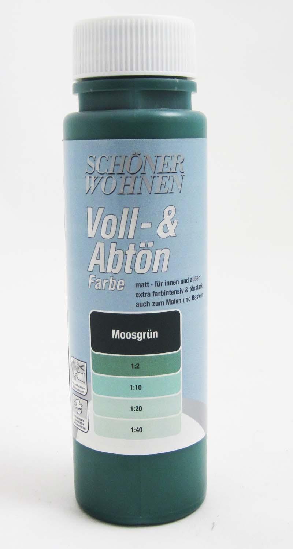 Voll- und Abtönfarbe Moosgrün 125 ml Ausverkauft!