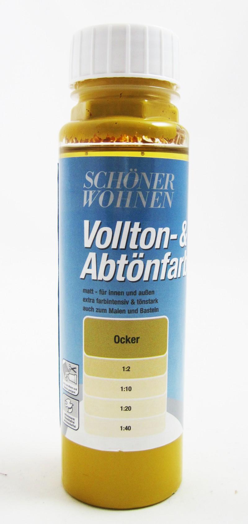 Voll- und Abtönfarbe Ocker 250 ml
