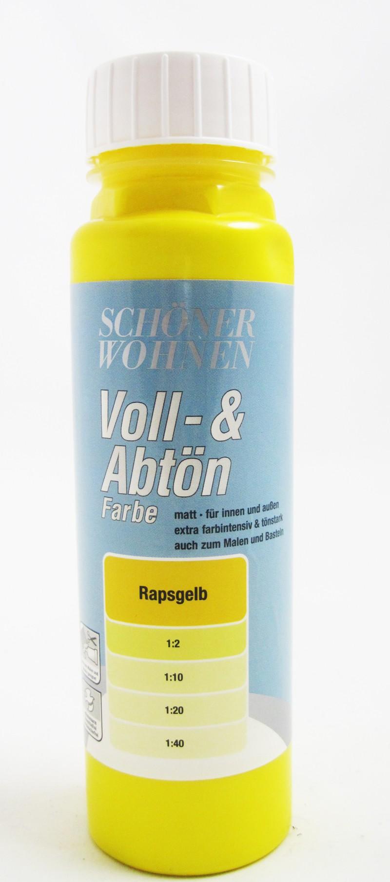 Voll- und Abtönfarbe Rapsgelb 250 ml
