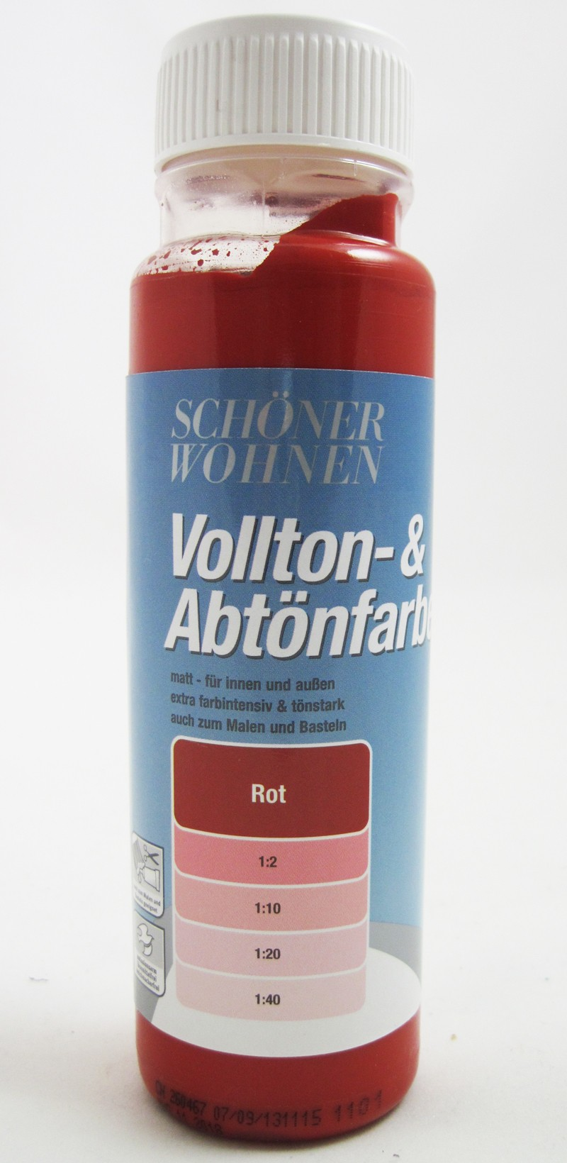 Voll- und Abtönfarbe Rot 125 ml