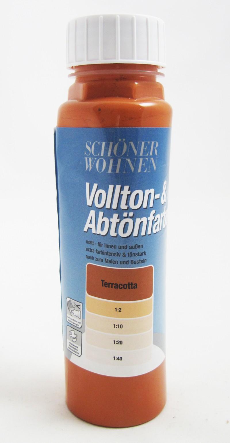 Voll- und Abtönfarbe Terracotta 125 ml