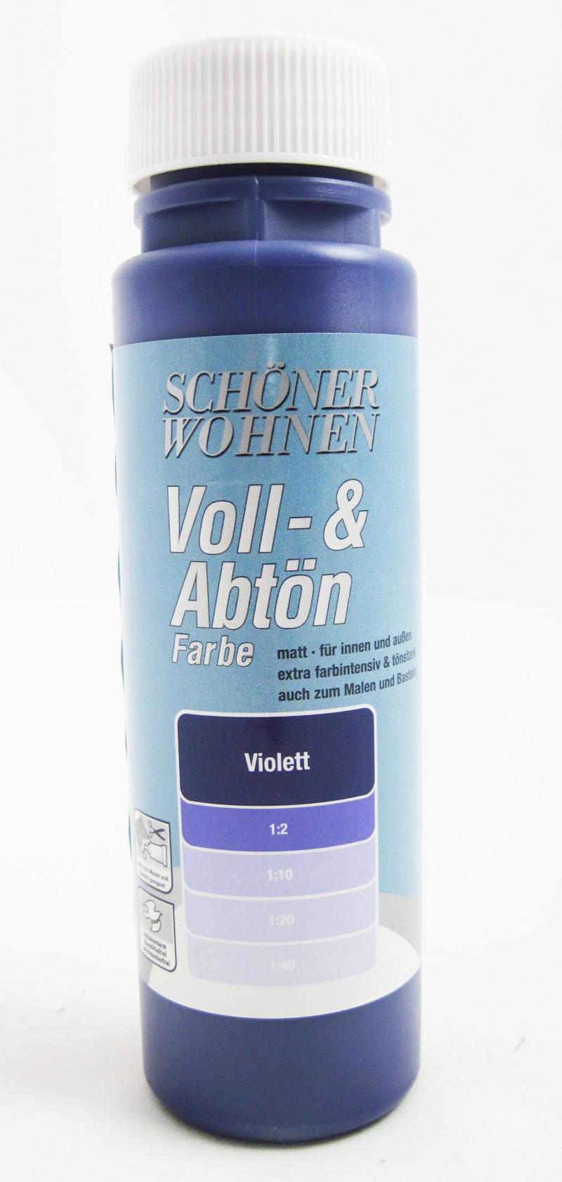 Voll- und Abtönfarbe Violett 500 ml