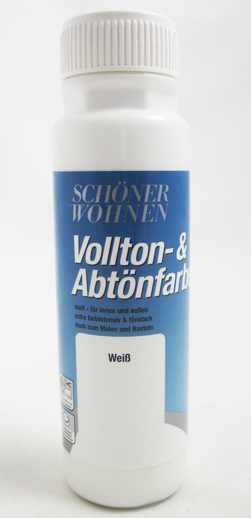 Voll- und Abtönfarbe Weiß 500 ml
