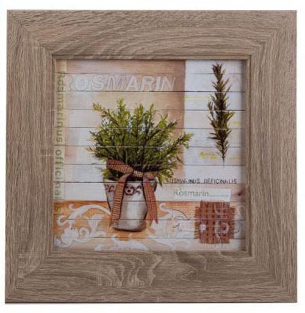 Wandbild Kunstdruck auf Holz kaschiert im Naturholz-Rahmen