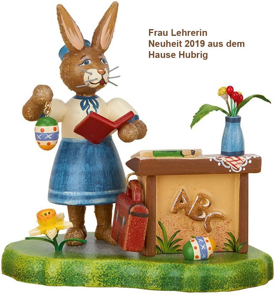 Frau Lehrerin Hubrig Volkskunst 10 cm Neuheit 2019