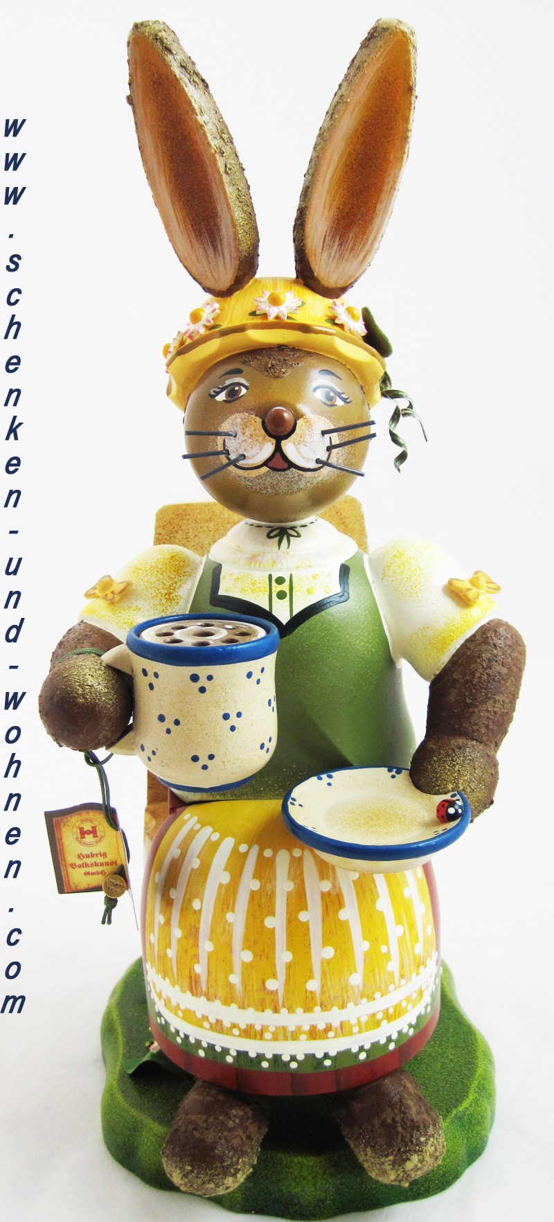 "Hubrig - Hasenland Räucherhase "" Kaffeegustel"" ca. 30 cm"