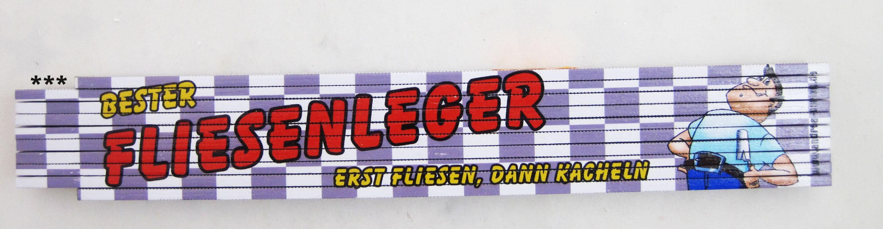 """Zollstock  """"Fliesenleger""""  mehrfarbig"""
