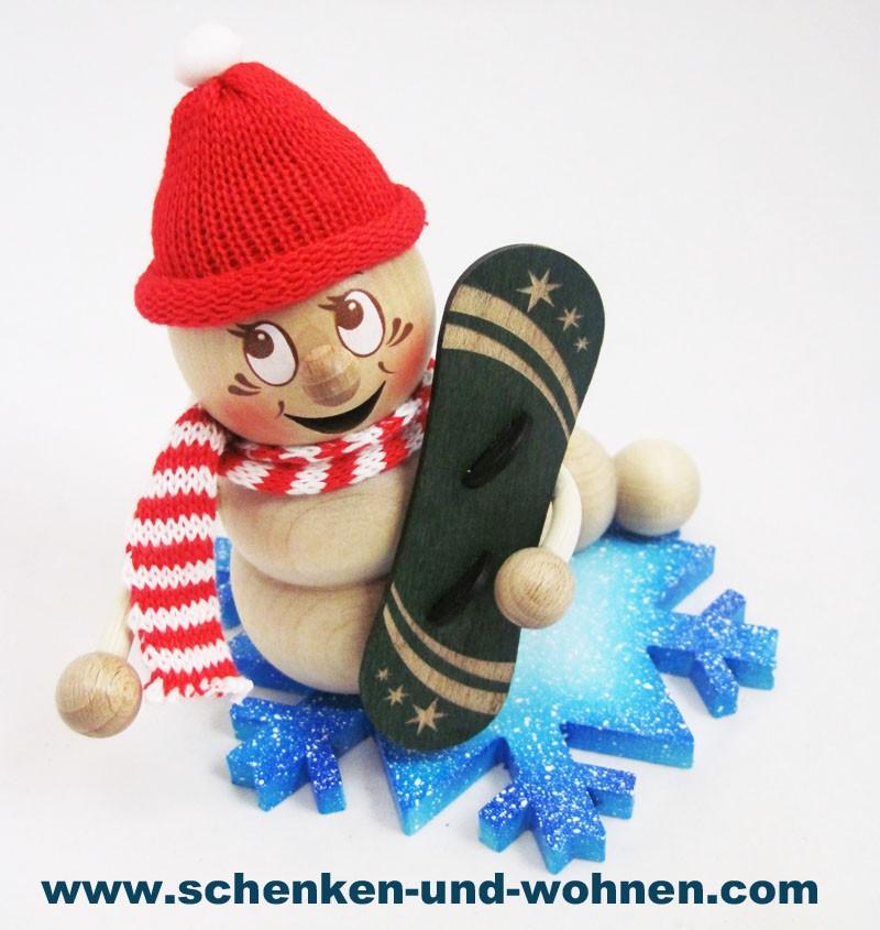 Rauchwurm - Snowboard-Rudi, ca. 13 cm