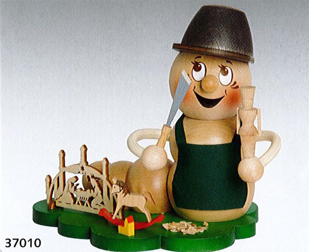 "Räucherfigur Rauchwurm ""Drehwurm Rudi"""