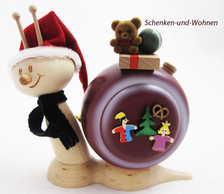 Weihnachtsschnecke - Rauchschnecke Sunny ca. 15cm