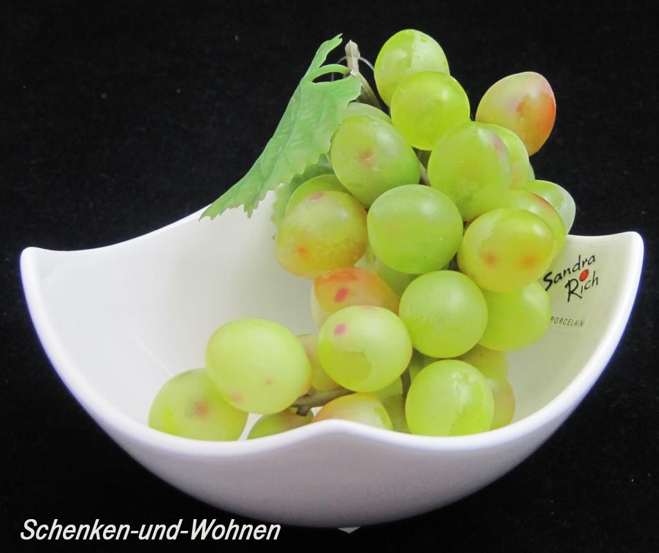 Dekoschale-Dipschale Trapez porzellain bowl white ca. 6 x 11,5 x 11,5 cm