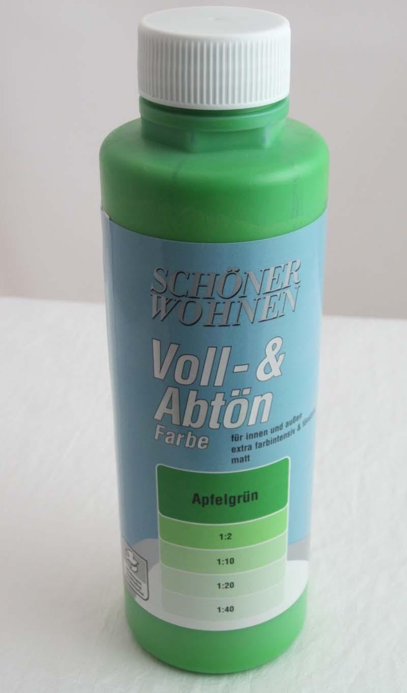 Voll- und Abtönfarbe Apfelgrün 500 ml