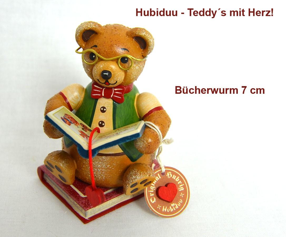 Hubrig Teddy Bücherwurm 7 cm Neuheit 2019