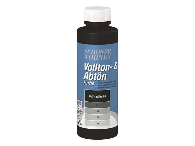Voll- und Abtönfarbe Anthrazitgrau 250 ml