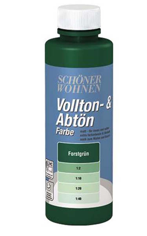 Voll- und Abtönfarbe Forstgrün 250 ml