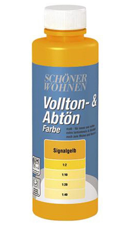 Voll- und Abtönfarbe Signalgelb 125 ml