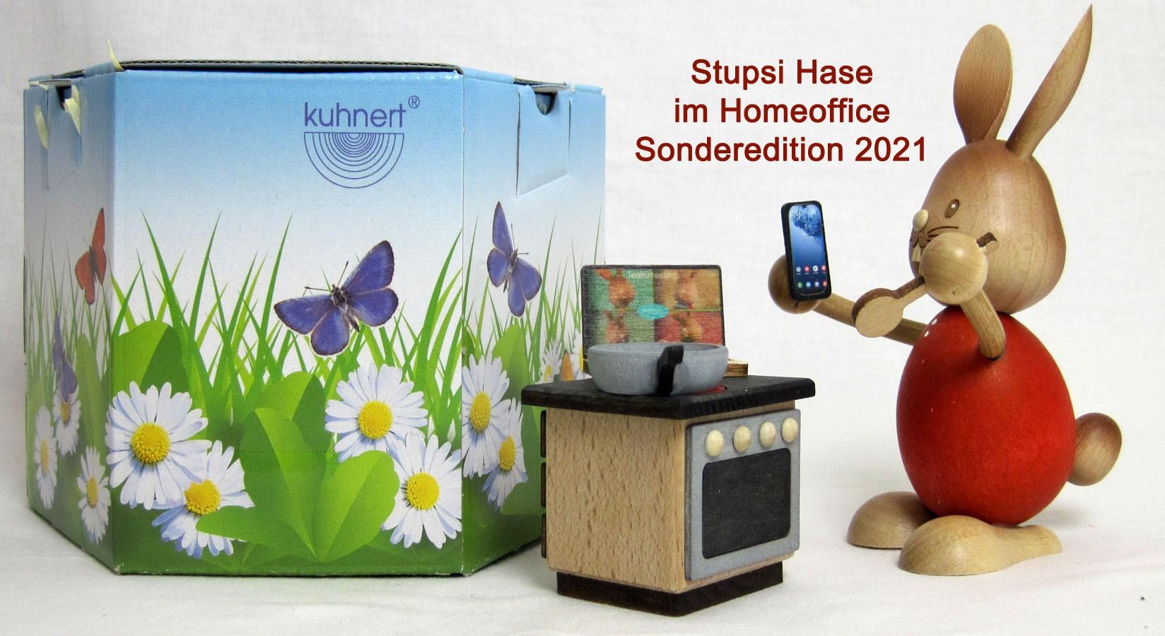 Stupsi Hase im Homeoffice - Sonderedition 2021