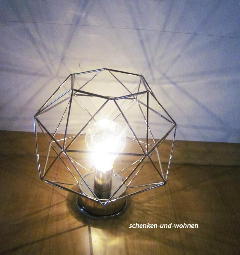 Retro-Nostalgie-Metall-Lampe silber, batteriebetrieben ca. 20 x 20 x 21 cm