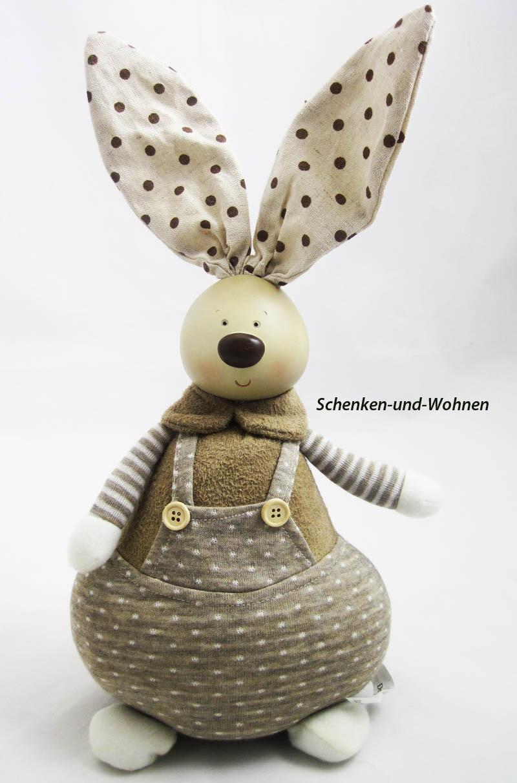 Hasenmann Textil creme-braun, ca. 36 cm