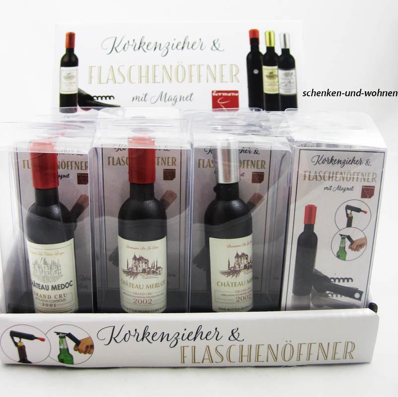 Flaschenöffner&Korkenzieher sortiert ca. 12 cm