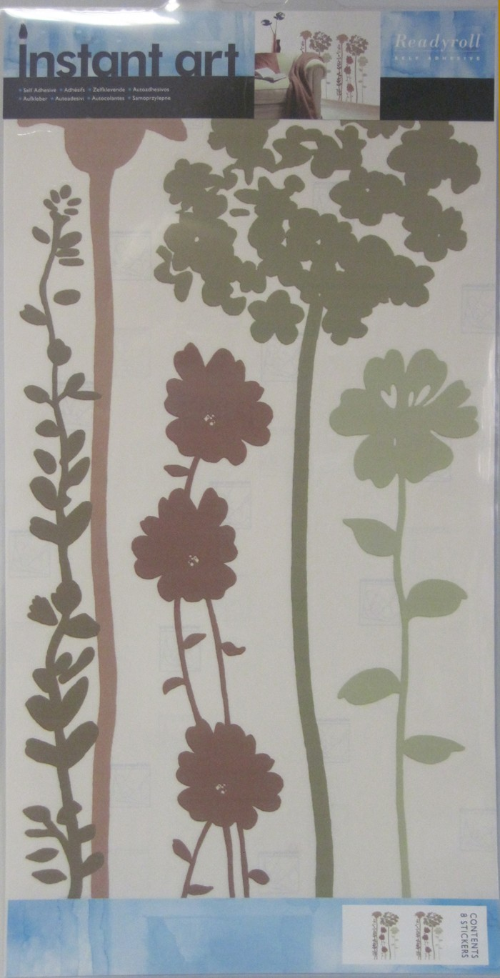 Wandaufkleber Blossom Green-Mocha Wandtattoo