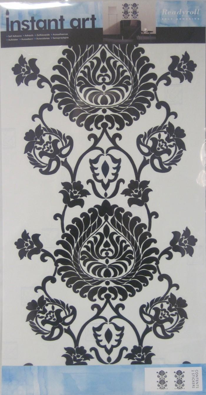 Wandaufkleber Damask Black 2 Sticker Wandtattoo