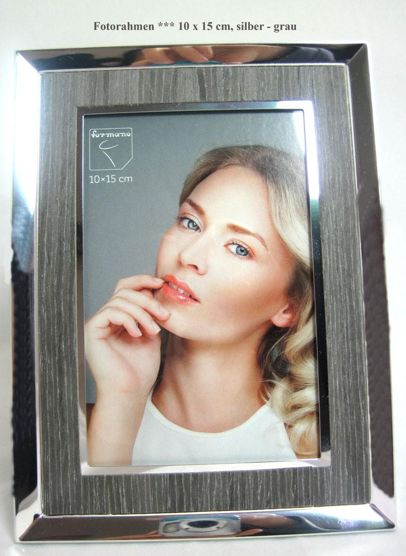 Fotorahmen Bilderrahmen 10 x 15 cm, silber - grau