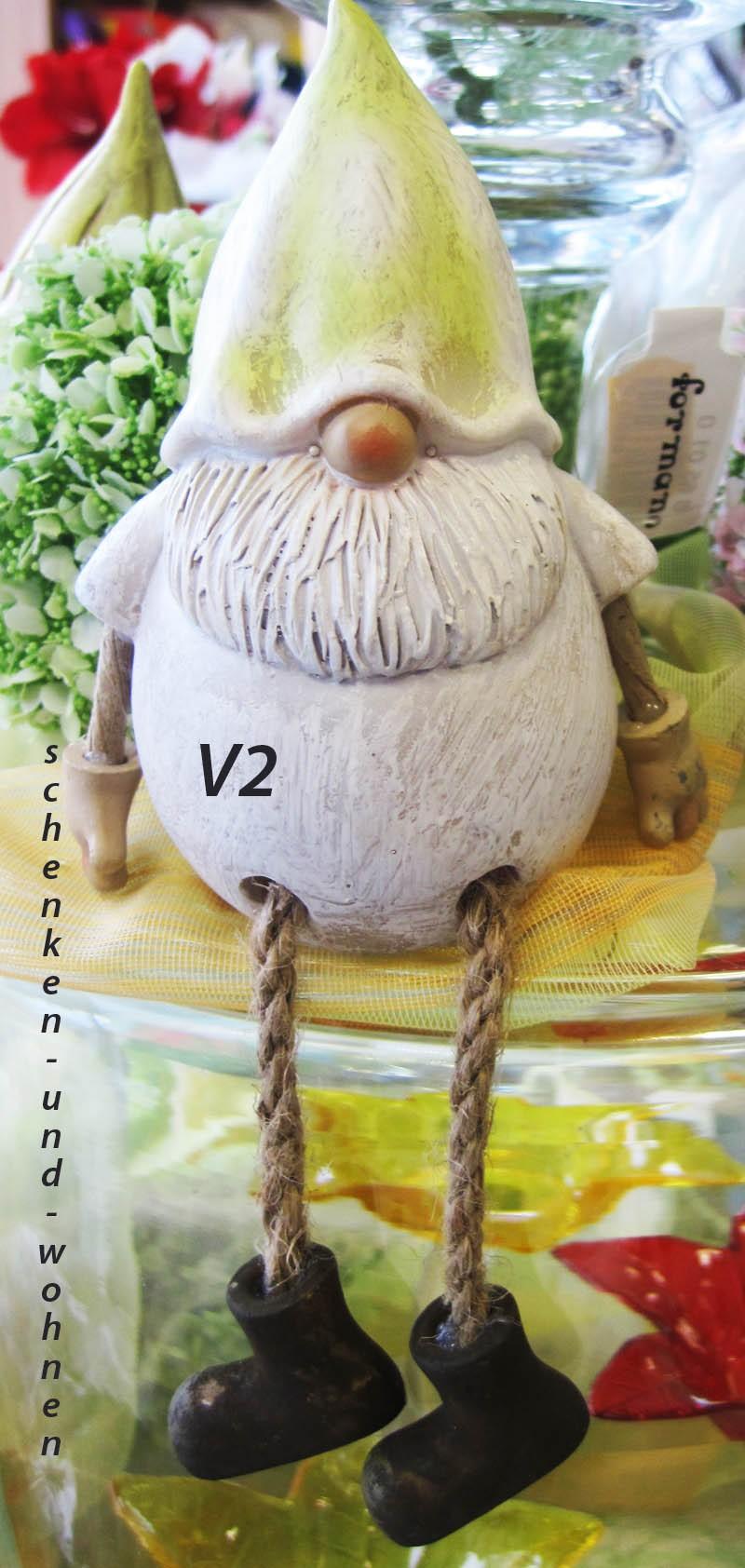 Deko - Zwerg - Kantensitzer mit runden Bart , V2 ca. 18 cm