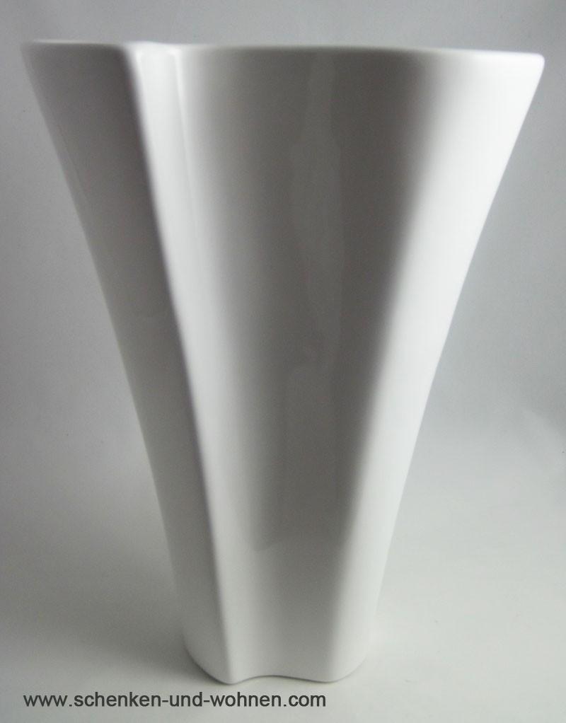 Keramik-Vase Wave-weiß 35 cm hoch