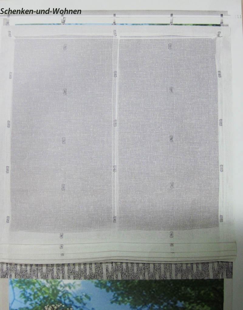 Zugrollo - Raffrollo - Türrollo Natur-Grau ca. 90 x 220 cm