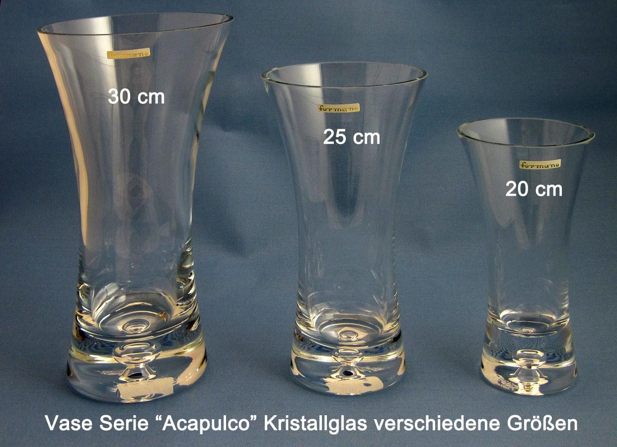 Vase Kristallglas Kelch ca. 20 cm hoch