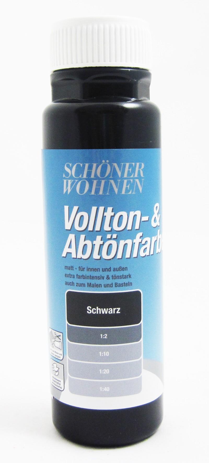 Voll- und Abtönfarbe Schwarz 500 ml