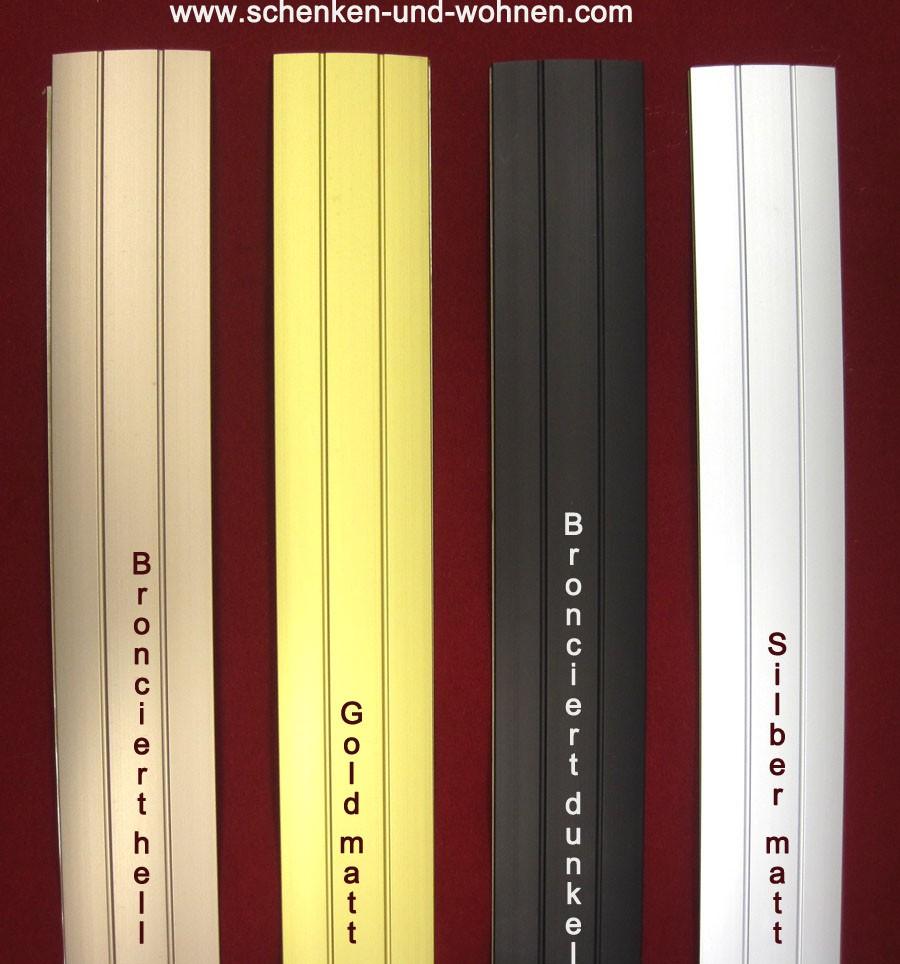 Übergangsprofil selbstklebend für Bodenbeläge 38 breitx1 m lang silber matt
