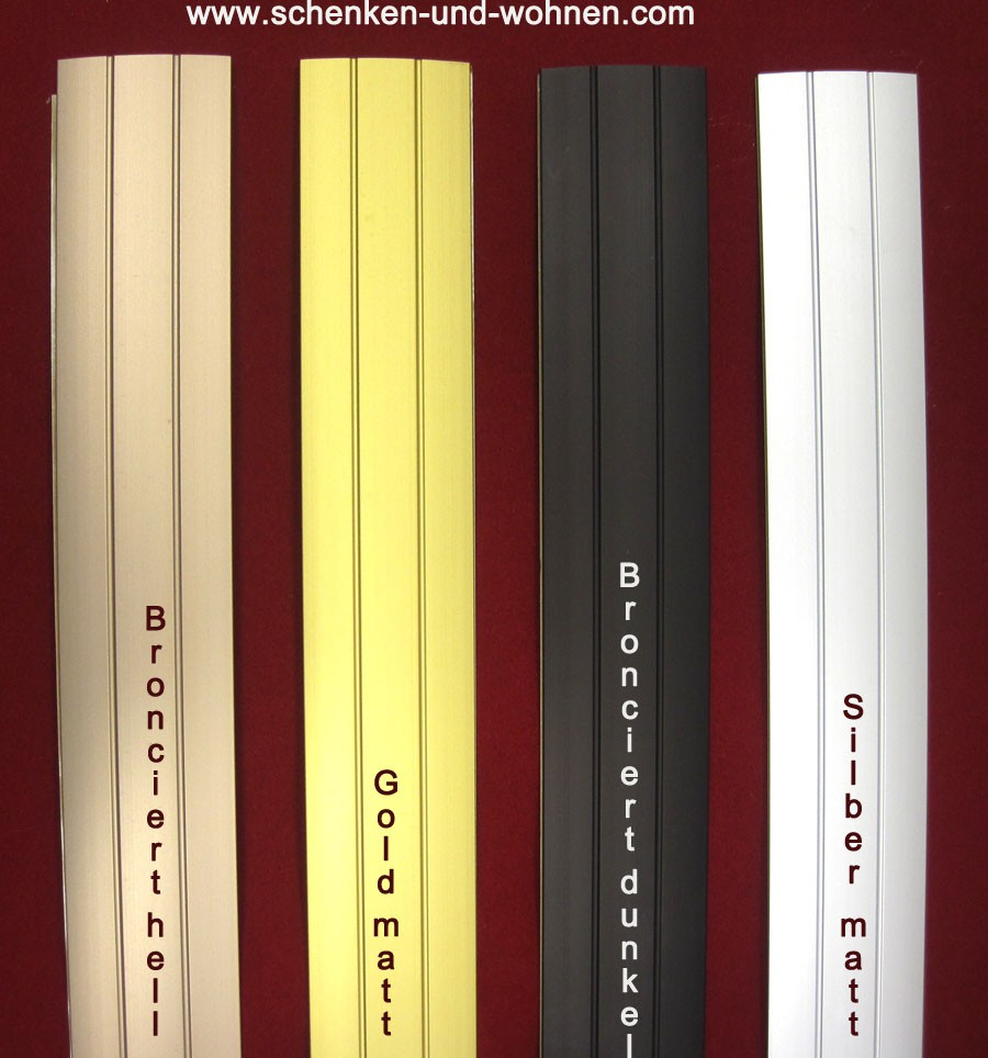 Übergangsprofil sk für Bodenbeläge 38 breitx1 m lang bronzefarbig hell