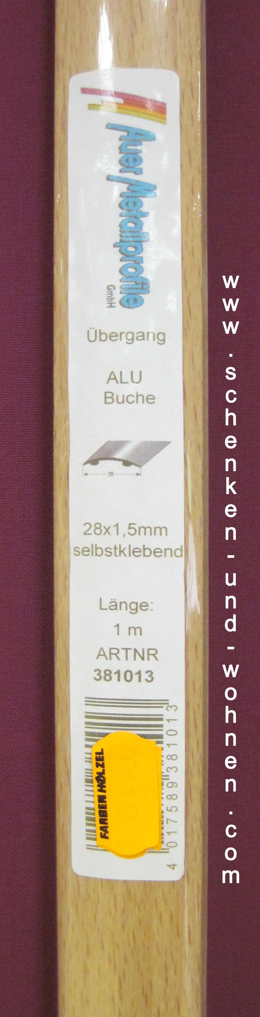 Übergangsprofil 28x1,5 mm 1,0 m Buche selbstklebend