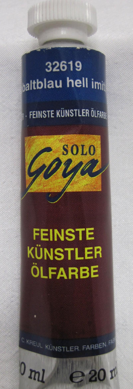 Feinste Künstlerölfarbe Goya Kobaltblau hell imit. 20 ml