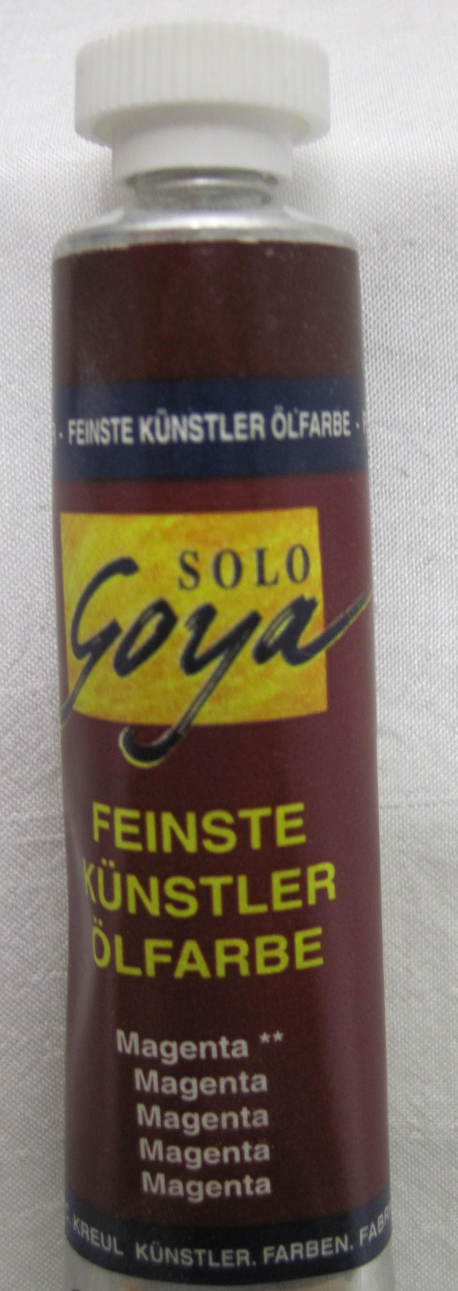 Feinste Künstlerölfarbe Goya magenta 20 ml