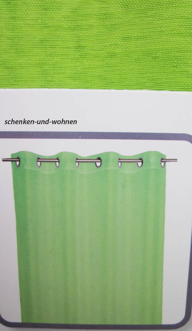 Ösenschal mit 8 silbernen Metallösen Grün ca. 140 x 250 cm