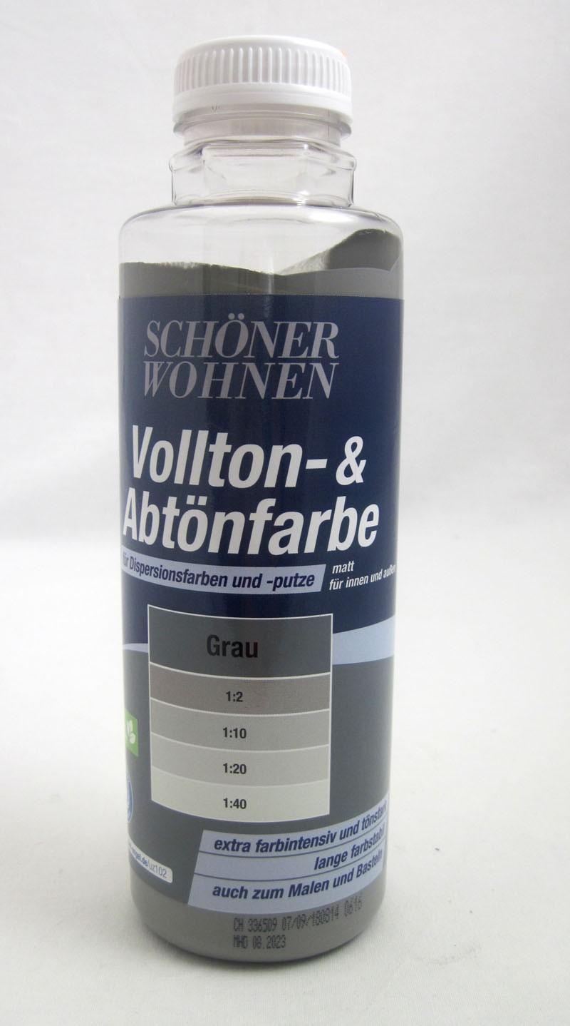 Voll- und Abtönfarbe Grau 500 ml