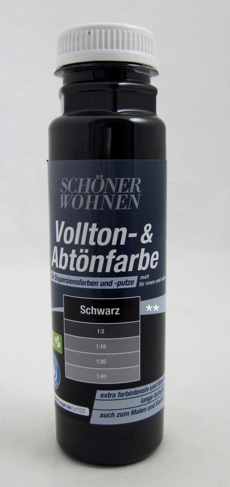 Voll- und Abtönfarbe schwarz 250 ml